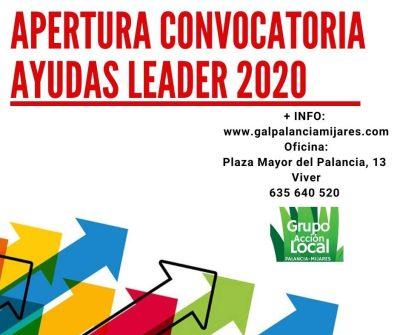 Apertura convocatoria ayudas leader 2020 1